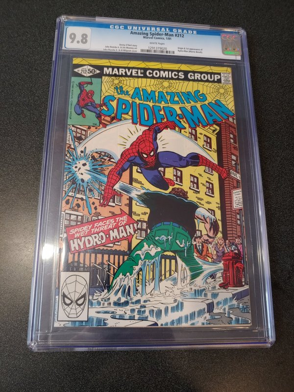 AMAZING SPIDER-MAN #212 CGC 9.8 ORIGIN & 1ST APPEARANCE OF HYDRO-MAN