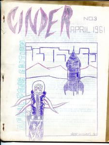 Cinder #3 4/1961-Roger Ebert-Ron Haydock-Xero Comics-sci-fi 'zine-VG