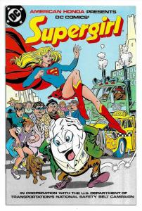 Rare Supergirl National Safety Belt Campaign Promo (DC, 1986) VF