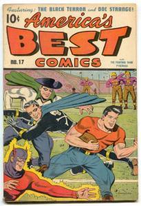America's Best Comics #17 1946- Schomburg- Black Terror- FN+