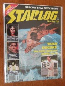 Starlog #28 Wonder Woman pin up 6.0 FN (1978)