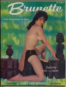 Brunette #1 1961-Mid-Tower-1st issue-Diane Weber-spicy cheesecake-pulp-VG/FN