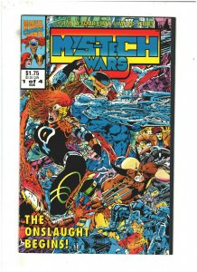 Mys-Tech Wars #1 VF+ 8.5 Marvel UK 1993 Death's Head II, X-Men & Avengers