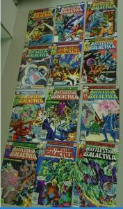 Battlestar Galactica run #1 to #12 - see pics - average 6.0 - 1979