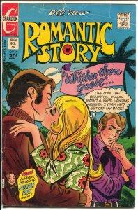 Romantic Story #124 1972-Charlton-love triangle-Susan Dey-romantic art-VG