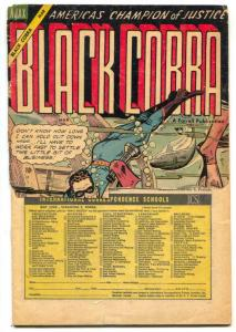 Black Cobra #3 1955- Rare Final issue- missing half cover