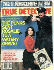 TRUE DETECTIVE-DEC/1985-BITERS-PUNKS-CONTERFEITING FR/G