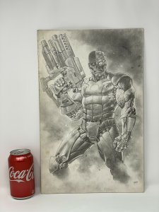 Deathlok Original Art by Lan Medina. Powerful Depiction of the Futuristic Hero.