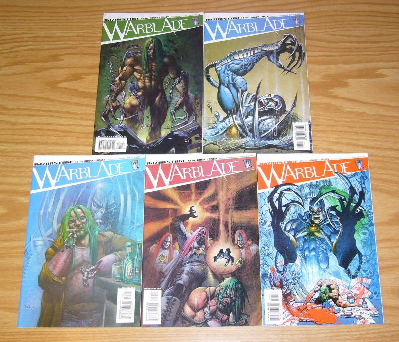 Warblade: the Razor's Edge #1-5 VF/NM complete series - simon bisley 2 3 4 set