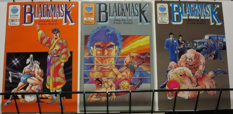 BLACKMASK (1993) 1-3 (4.95 CVR) AUGUSTYN/BAIKIE 3 ISSUE