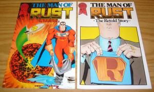 Man of Rust #1 VF/NM one-shot + variant JOHN BYRNE SUPERMAN SPOOF