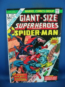 GIANT SIZE SUPER HEROES 1 VF+ SPIDERMAN MORBIUS MAN WOLF 1974