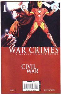War Crimes Civil War #1 (Feb-07) NM+ Super-High-Grade Captain America, Iron Man