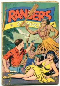 Rangers Comics #35 1947-headlight bondage cover- GGA spicy VG-