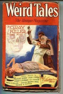 Weird Tales 11/1929-Bound woman cover-Robert E Howard-Pulp Magazine