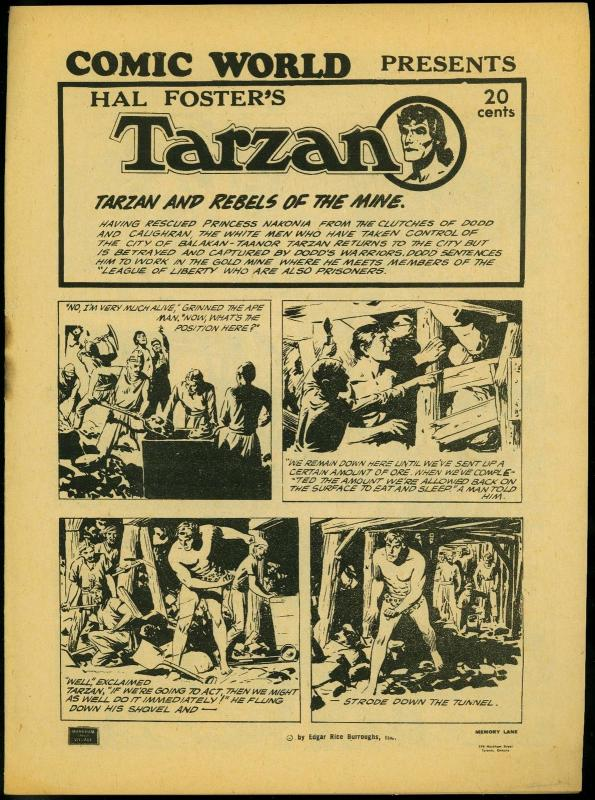 Comic World Presents Hal Foster's Tarzan- Rebels of the Mine FN