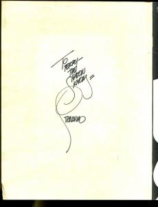 Unseen Shadows 1978-50 Shadow cover concepts-inscribed by Steranko-FN/VF