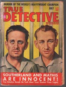 True Detective Mysteries 7/1938-MacFadden-murder of World Champion boxer-FR/G
