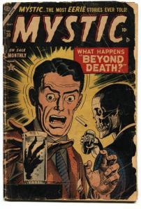 Mystic Comics #30 1954- Skeleton cover- Atlas Horror golden age G