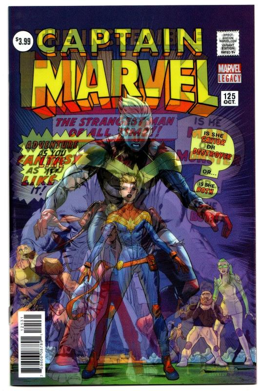 Captain Marvel #125 3D Variant Incredible Hulk #1 Homage (2017) NM