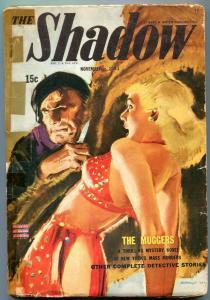 The Shadow Pulp November 1943- The Muggers- GGA cover Modest Stein G+