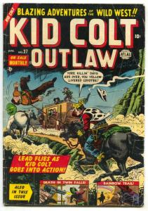 Kid Colt Outlaw #27 1953- Atlas Western comic VG