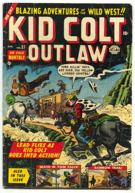 Kid Colt Outlaw #27 1953- Atlas Western comic VG