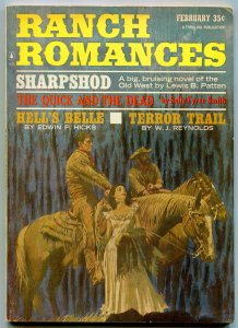 Ranch Romances Pulp February 1966- Sharpshod- Quick and the Dead