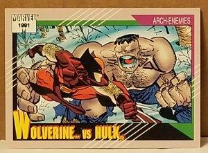 1991 Marvel Universe #108 Wolverine vs Hulk