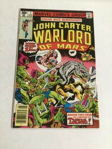 John Carter Warlord Of Mars 1 Vf- Very Fine- 7.5 Marvel Comics