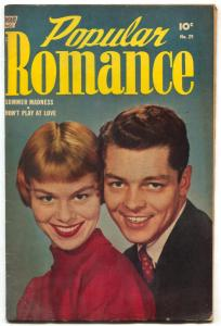 Popular Romance #29 1954- Golden Age Photo cover- Final issue