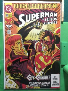 Superman in Action Comics #688 Reign of the Supermen!