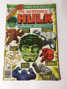 The Incredible Hulk Annual 5 Vg Very Good 1st Modern Groot