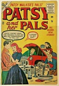PATSY & HER PALS#17 VG- 1954 MARVEL/ATLAS GOLDEN AGE COMICS