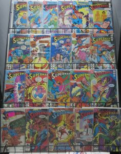SUPERMAN BRONZE AGE COLLECTION! 21 BOOKS! VG/+ Robo-suit Lex Luthor,