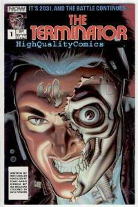 TERMINATOR #1, NM, Tony Akins, Movie based, 1988, Death, Robot Cyborg