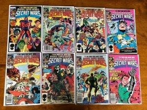 Secret Wars comic lot from:#2-12 8 different avg 6.0 FN (1984)