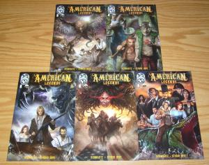 American Legends #1-5 VF/NM complete series - davy crockett - lewis & clark set