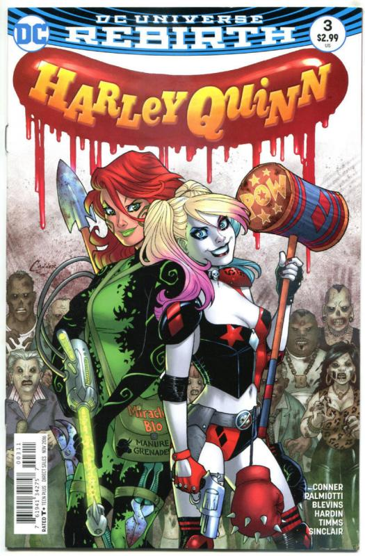HARLEY QUINN #3, NM, Rebirth, Amanda Conner, Palmiotti, 2016, more HQ in store,A