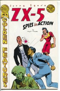 Jerry Iger's Golden Features #4 1985-ZX-5 Spies In Action-reprints Golden Age co