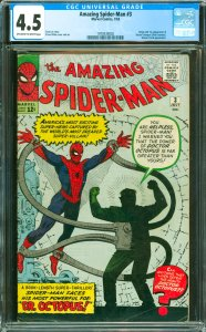 Amazing Spider-Man #3 CGC Graded 4.5 Origin and 1st appearance of Doctor Octo...