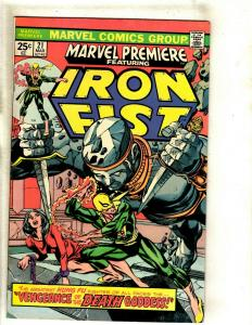 Marvel Premiere # 21 VF/NM Comic Book Feat. Iron Fist Karate Defenders RS1