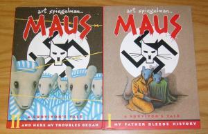 Maus: A Survivor's Tale OGN 1-2 FN/VF/NM complete series  art spiegelman - nazis