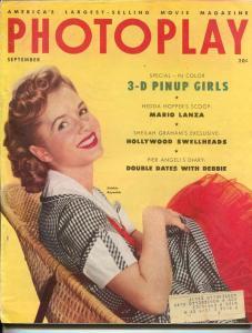 Photoplay-Debbie Reynolds-John Wayne-Ann Blyth-Dale Robertson-Sept-1953