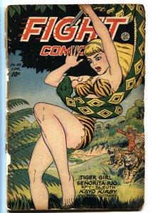 Fight Comics #49 1947- Matt Baker- 1st Jungle cover- Tiger Girl - restored