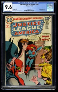 Justice League of America #109 CGC NM+ 9.6 White Pages DC Comics