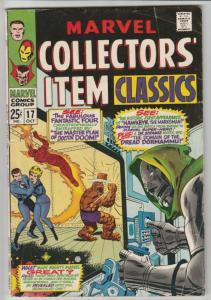 Marvel Collectors' Item #17 (Oct-68) VG/FN Mid-Grade Fantastic Four, Mr. Fant...