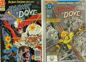 Hawk+dove 3rd series from:#10-28+ANN 10 different 8.0 VF (1989-91)