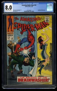 Amazing Spider-Man #59 CGC VF 8.0 Off White to White 1st Mary Jane Watson Cover!