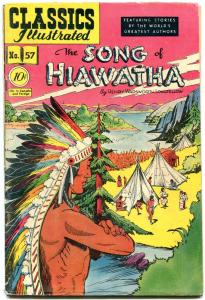 Classics Illustratred #57 HRN 55-Song of Hiawatha - EGYPTIAN COLLECTION vg